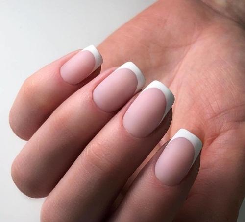 Французский маникюр на острые ногти. Фото, новинки дизайна 2020