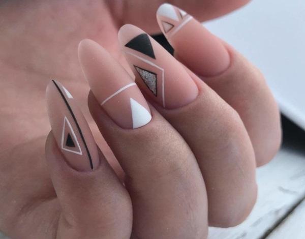 Геометрия на ногтях. Дизайны, техники, идеи, как сделать пошагово с фото