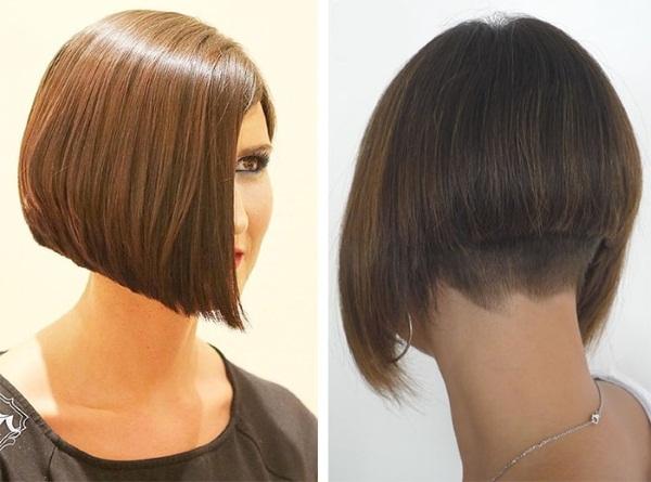 Каре на средние волосы с челкой. Фото градуированное, боб-каре, на бок, модные стрижки