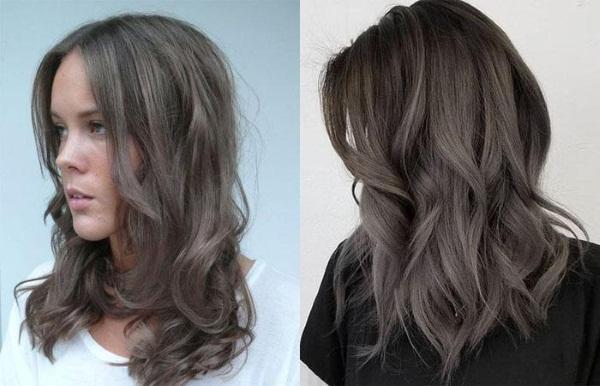 Коричнево-пепельный цвет волос. Фото до и после окрашивания. Краски и инструкции