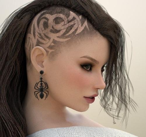 Креативные стрижки на длинные волосы для женщин 2019. Фото
