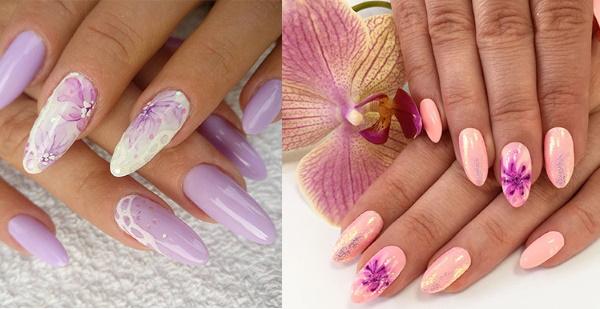 Акварельная роспись на ногтях. Фото, видео-уроки для начинающих