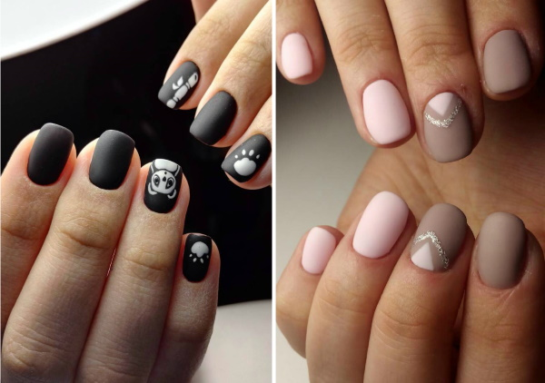 Дизайны ногтей гель-лаком на короткие ногти. Фото, модные тенденции 2019