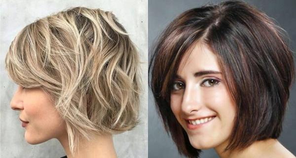 Двойное каре на средние волосы. Фото, вид сзади и спереди, с челкой и без