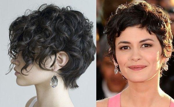 Короткие женские стрижки для кудрявых волос. Фото