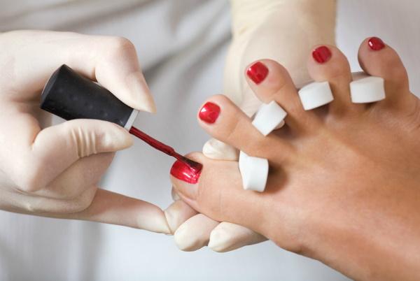 Наращивание ногтей на ногах гелем, полигелем. Фото до и после, как делать