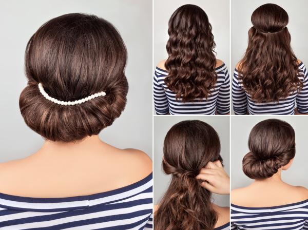 Прически на средние волосы на торжество. Фото, как сделать своими руками