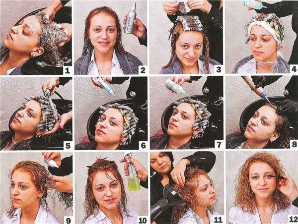 Химическая завивка на длинные волосы. Фото, как сделать крупные, долговременные локоны