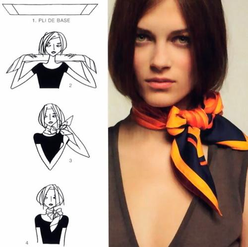 Как красиво завязать платок на шее. Способы, как носить маленький, большой, квадратный, треугольный