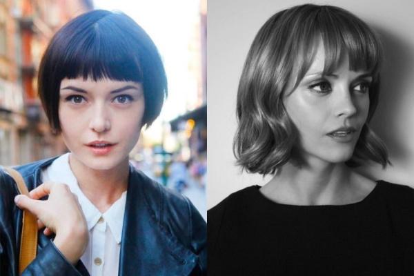 Каре с челкой для тонких волос. Фото до и после, варианты для круглого, овального лица