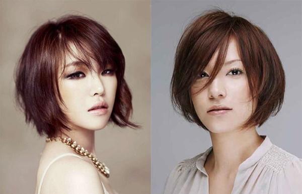 Корейские стрижки на короткие волосы с челкой и без, под мальчика для женщин. Фото