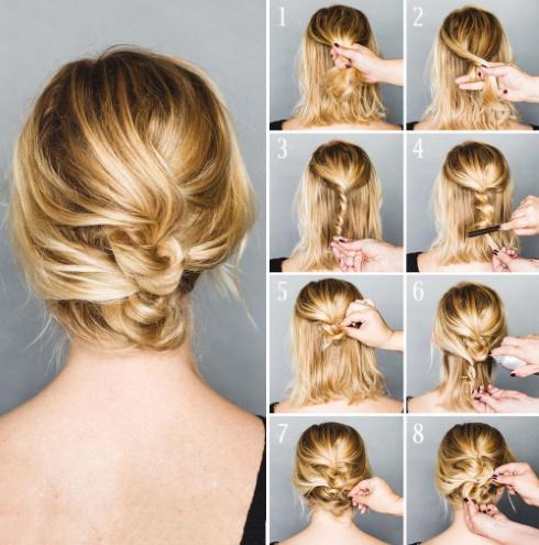 Как сделать красивые пучки на средние волосы пошагово своими руками. Фото