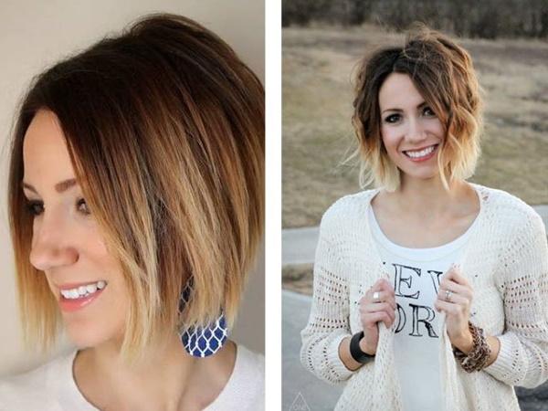 Омбре на темные короткие волосы. Фото до и после окрашивания, как сделать в домашних условиях