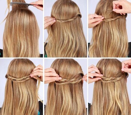Прически с косами на средние волосы для девочек и девушек. Фото, как сделать пошагово