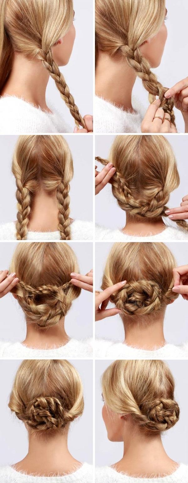 Красивые прически из косичек на средние волосы. Как сделать пошагово с фото