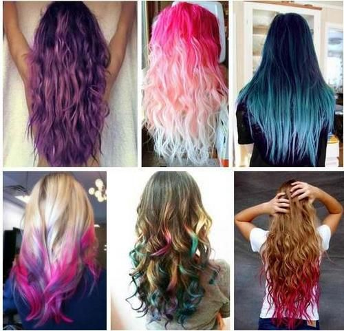 Цветные пряди на темных волосах. Фото, техники окрашивания на каре средней длины, длинные