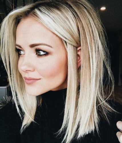 Блондинки с темными корнями. Фото, техники окрашивания, мелирование, тонирование
