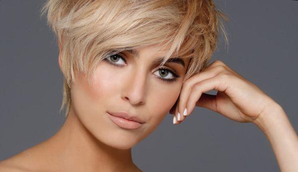 Прически с короткими волосами для девушек, модная покраска волос. Фото