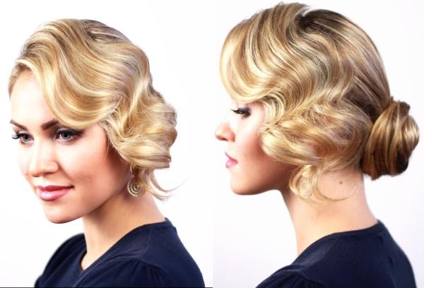 Прически волнами на средние волосы. Фото, как сделать с челкой и без