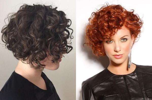 Стрижки для кудрявых волос средней длины, короткая, длинные для женщин
