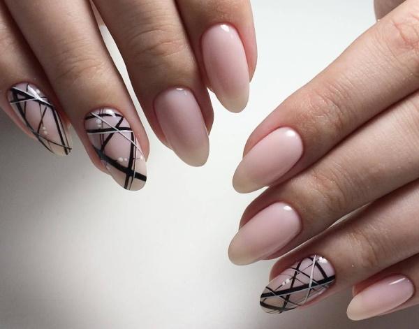 Ногти острые. Дизайн, новинки, модные тенденции. Фото, идеи с рисунком, стразами, блестками, шеллак