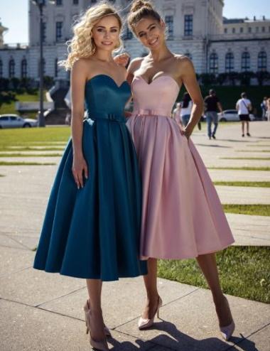 Платья на выпускной короткие 2020. Фото с пышной юбкой, шлейфом