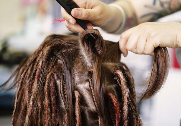 Как сделать дреды в домашних условиях на короткие, длинные волосы из ниток, канекалона, пряжи. Фото