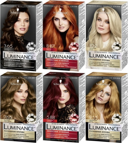 Шварцкопф Люминанс (Schwarzkopf Luminance) палитра цветов, краска для волос. Отзывы, цена