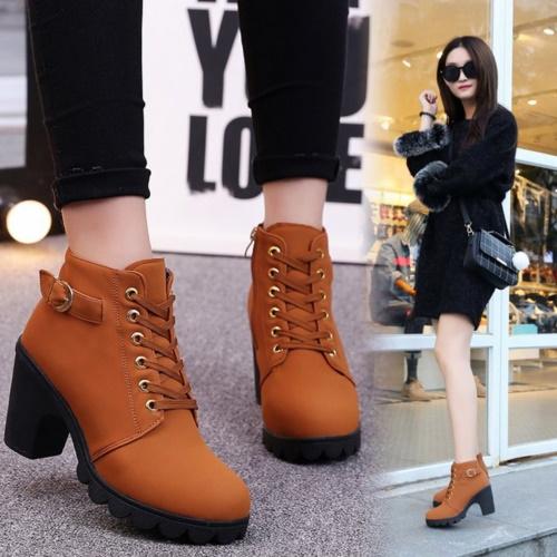 Ботинки на шнуровке женские. С чем носить на каблуке и без, платформе