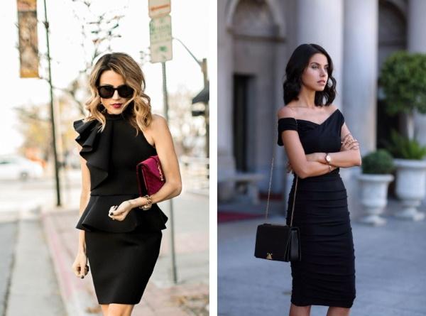 Черное платье на корпоратив. Фото, с чем одеть, носить, как обыграть