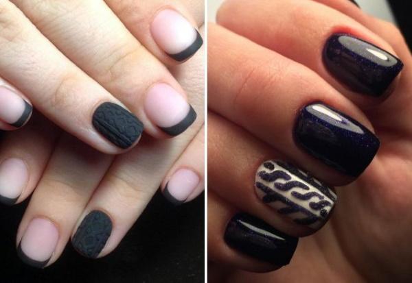 Дизайн ногтей бежевый с черным. Фото с рисунком, кружевом, матовый на короткие ногти