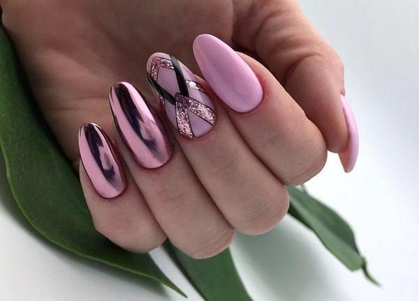 Красивое наращивание ногтей 2020. Фото, идеи дизайнов со стразами, надписями, блестками, втиркой, узорами