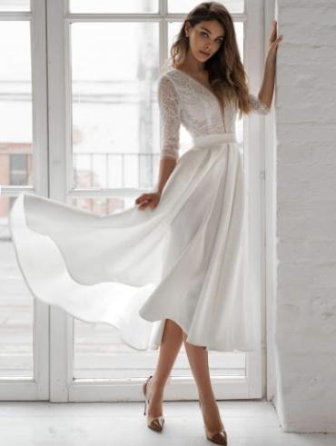 Платье для росписи в ЗАГСе без торжества, свадьбы, вечернее, для беременных. Фото