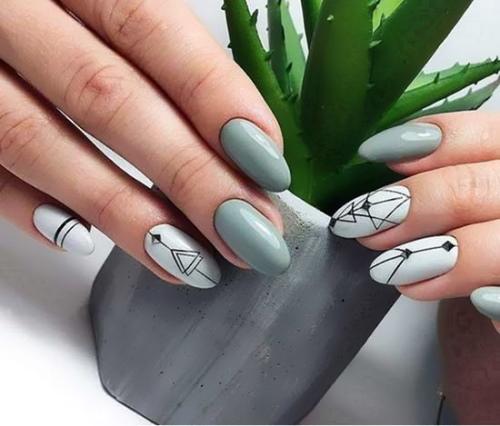 Офисный маникюр на короткие ногти, длинные. Фото, модные тенденции, новинки, дизайны с втиркой, стразами, рисунком, геометрией