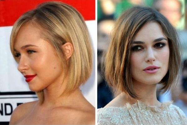 Стрижки для прямоугольного лица с высоким лбом, челкой на короткие, средние, длинные, тонкие, густые волосы