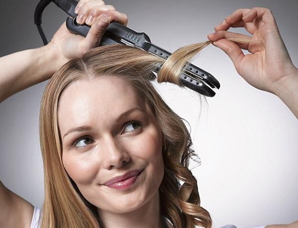 Как сделать кудри утюжком на средние волосы. Фото пошагово для начинающих