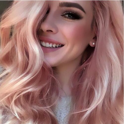 Персиковый цвет волос. Как сделать, получить, фото, где купить краску, кому идет