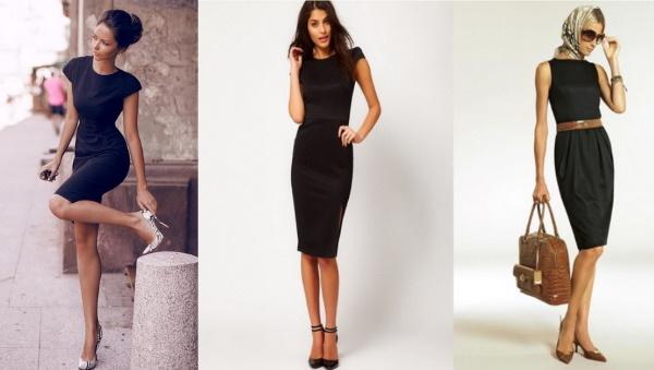 Платье-карандаш ниже колена, выше. Фото для полных, с чем носить