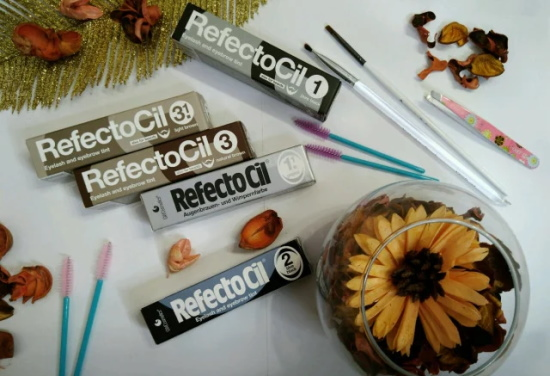 RefectoCil (Рефектоцил) краска для бровей и ресниц. Палитра, оттенки