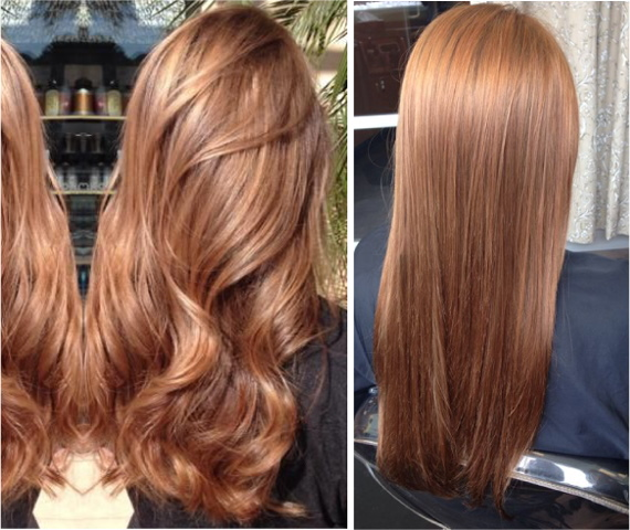 Медно-русый цвет волос. Фото, кому подходит, краски