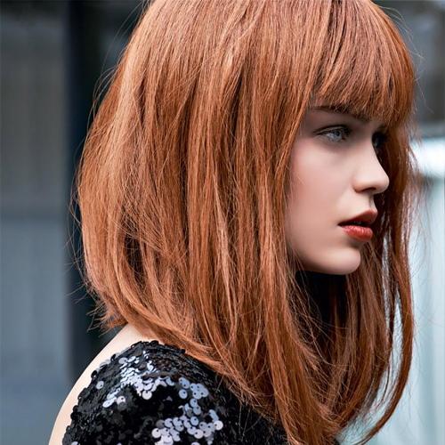 Прически с прямыми волосами. Фото без и с челкой, средней длины
