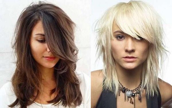 Стрижки женские с длинной челкой на средние волосы. Фото, модные тенденции 2020