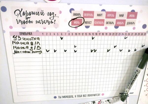 Трекер привычек на месяц: шаблон, красивые примеры оформления