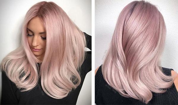 Нежно-розовый цвет волос. Фото на концах, русых, темных, светлых волосах, краска, кому идет