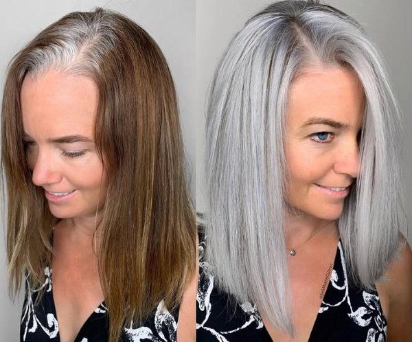 Пепельный блондин цвет волос. Фото до и после окрашивания, краски