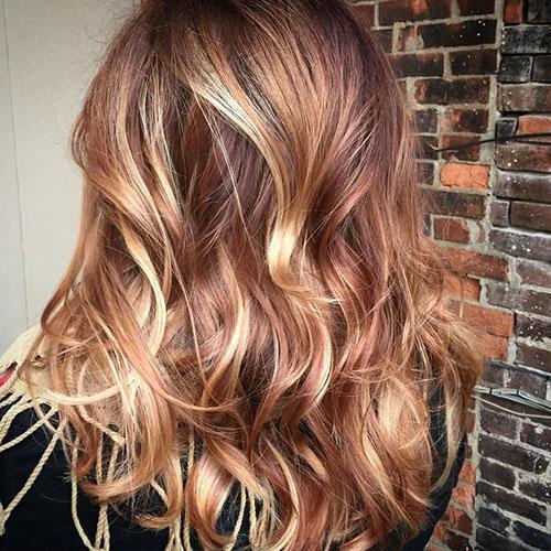 Светло-карамельный цвет волос. Фото, краска для карих, зеленых, голубых глаз