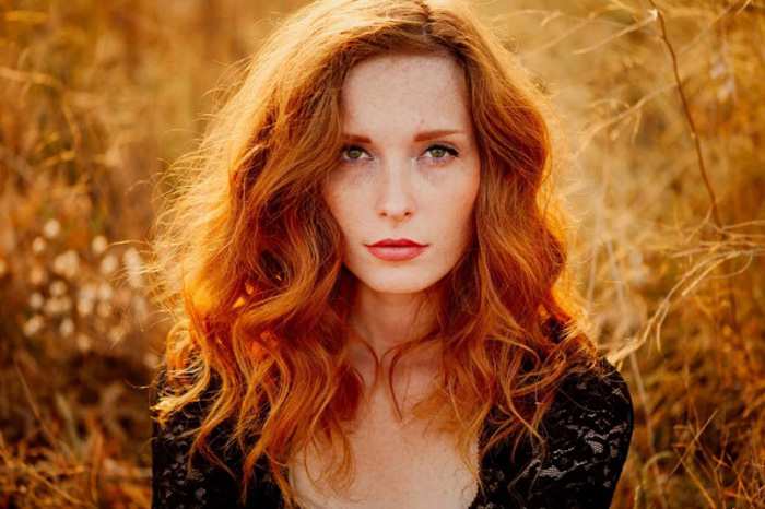 Светло-рыжий цвет волос. Фото с мелированием и без, краски, оттенки