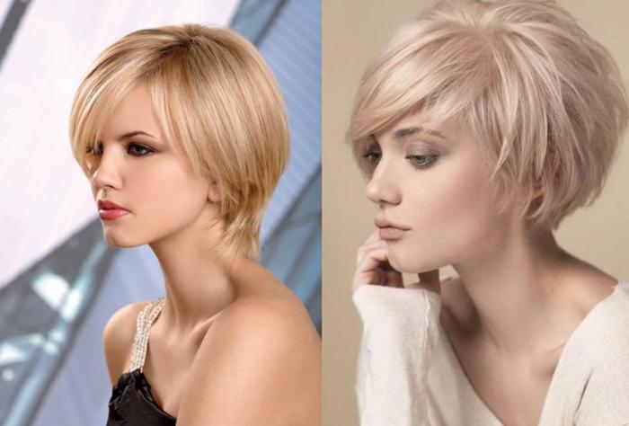 Французская стрижка, не требующая укладки на средние, короткие, длинные волосы. Фото