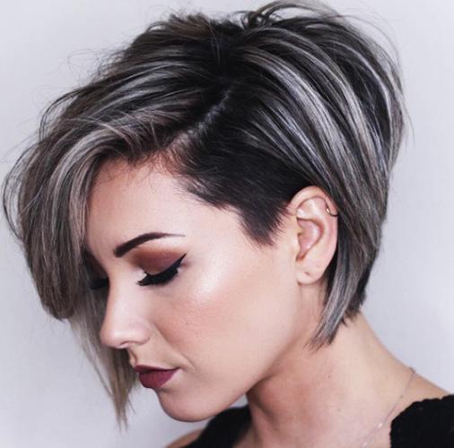 Стрижка Пикси для тонких волос у женщин 40-50. Фото