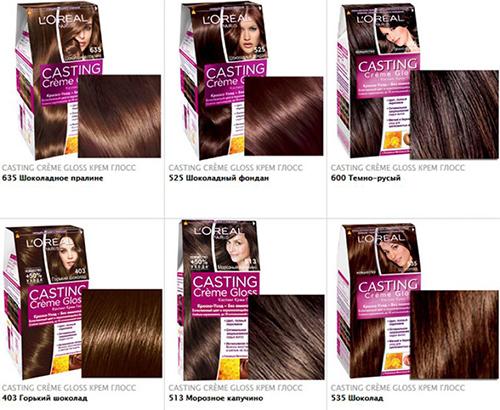 Шоколадный цвет волос. Фото, палитра оттенков